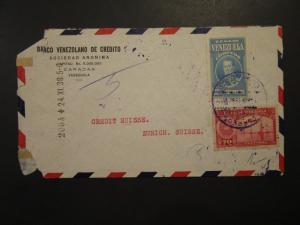 Venezuela 1938 Airmail Cover to Switzerland - Z3985