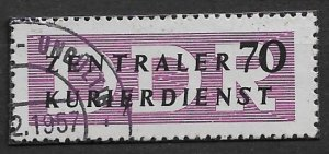 1956 DDR O36  Official 70pf CTO
