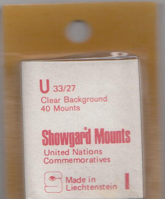 SHOWGARD CLEAR MOUNTS U 33/27 (40) RETAIL PRICE $3.95