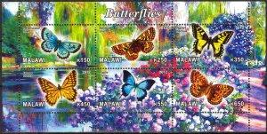 Malawi 2012 Butterflies (4) MNH Cinderella !