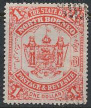 North Borneo  SG 83 Used   Scarlet  please see scan & details