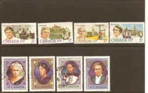 CANADIAN 2 SETS  ON PROMINENT WOMEN USED STAMPS  LOT#86