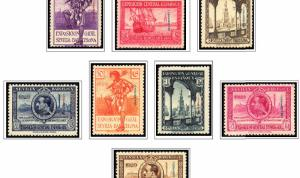 COLOR PRINTED FERNANDO PO 1868-1968 STAMP ALBUM PAGES (17 illustrated pages)
