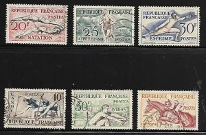 FRANCE 700-705 USED SPORTS SET 1953