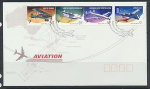 Aviation – Aircraft SG 3033a-3036  SC# 2909c-2910 First Day Cover see scans