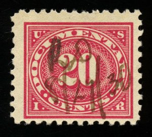 B117 U.S. Revenue Scott R256 20-cent documentary, perf 10.