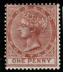 TOBAGO SG15 1882 1d VENETIAN RED MTD MINT