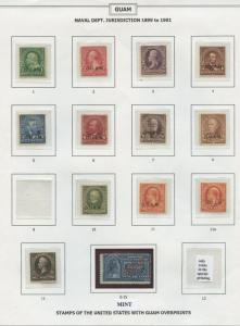 GUAM COLLECTION ON (8) PRESENTATION PAGES MINT; USED BLOCKS; VARIETIES WLM172