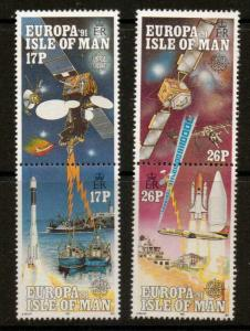 ISLE OF MAN SG474/7 1991 EUROPA EUROPE IN SPACE MNH
