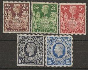Great Britain 249-251A [u] 5 vls cpl