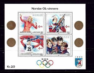Norway 946 MNH 1989 Olympics S/S