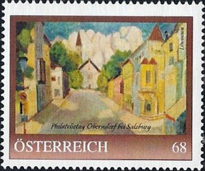 PM Österreich, Philatelietag Oberndorf bei Salzburg, Gemälde, Nr. 8122292 **