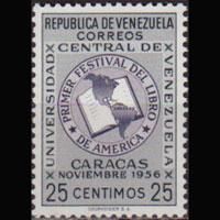 VENEZUELA 1956 - Scott# 680 Book Fest. 25c NH
