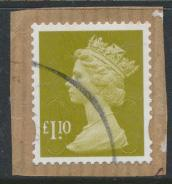 Great Britain SG U2933 SC# MH409  Security Machin £1.10 M11L   Used