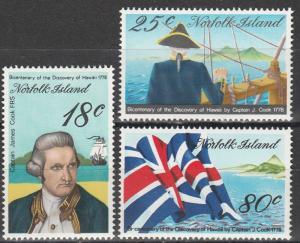 Norfolk Island #222-4 MNH