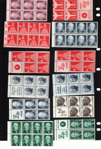 US  12 MNH booklet panes
