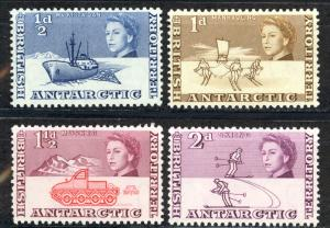 British Antarctic Territory Sc# 1-4 MH 1963 Definitives