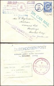 Goldpath: Tonga TIN CAN MAIL 1936, to New Zealand    _CV22_P14