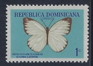 Dominican Republic, Scott #622; 1c Butterfly, MNH
