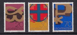 Liechtenstein  #426-428  MNH  1967   Christian symbols