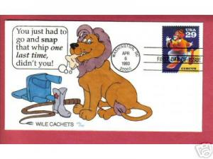 Circus Clown-Wile Cachet shows lion eating trainer hd c