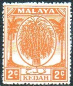 Kedah 1950 2c orange MH