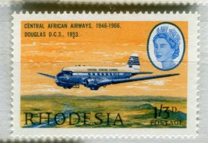 RHODESIA: 1966 early AIR issue fine Mint MNH unmounted 1s. 3d. value