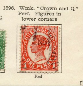 Queensland 1896 Early Issue Fine Used 1d. NW-113702