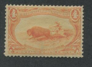 1898 US Stamp #287 4c Mint Hinged F/VF Faded Original Gum Catalogue Value $100