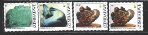 Zimbabwe. 2012. 981-84 from the series. Sculptures. MNH.