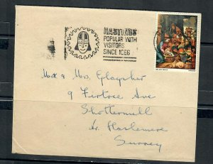 G.B 1969 COVER SLOGAN POSTMARK HASTINGS POPULAR WITH VISITORS SINCE 1066