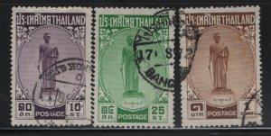 THAILAND, 309-311, SET (3), USED, 1955, TAO SURANARI