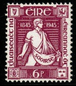 IRELAND SG137 1945 6d THOMAS DAVIS MTD MINT