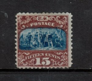 USA #119 Mint Fine+ Original Gum Hinged **With Certificate**