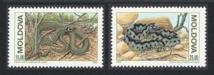 Moldova Protected Animals Snakes WWF Accompanying stamps 2v SG#61-62