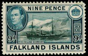FALKLAND ISLANDS SG157, 9d black & grey-blue, LH MINT. Cat £28.