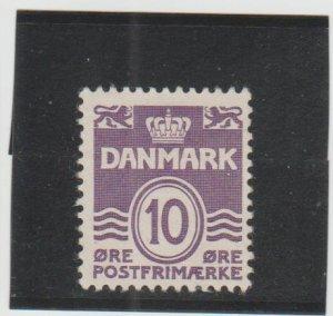 Denmark  Scott#  62  MH  (1912 Wavy Lines)