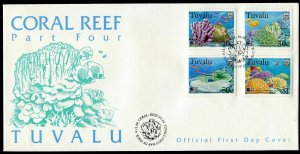 Tuvalu 776-779,FDC.Michel 813-816. Greenpeace.IYO-1998:Save Our Seas.