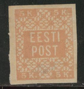 Estonia Scott 1 MH* 1918-1919 thin