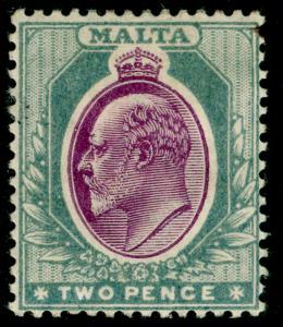 MALTA SG50, 2d purple & grey, M MINT. Cat £14.