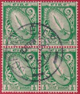 Ireland - 1923 - Scott #65 - used block of 4 - Sword of Light