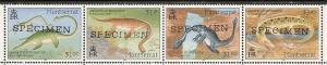 Montserrat 844 1994 Dinosaurs strip SPECIMEN Folded MNH