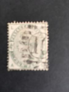 G.B. 2015 Sc. #103 Fine Used Cat. $210. 1884 4 Pence Cancel Light 10 in Circle
