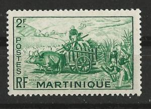 Martinique # 223  Gathering Sugar Cane   (1) VF Unused