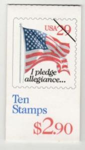 U.S. Scott #2594a BK198 Flag Stamp - Mint NH Booklet