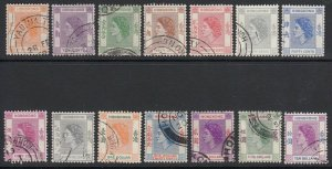 Hong Kong Sc 185-198 (SG 178-191), used