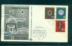 Germany #892-94 (Mi 440-42) 1964 Science and Technology unaddressed cachet FDC