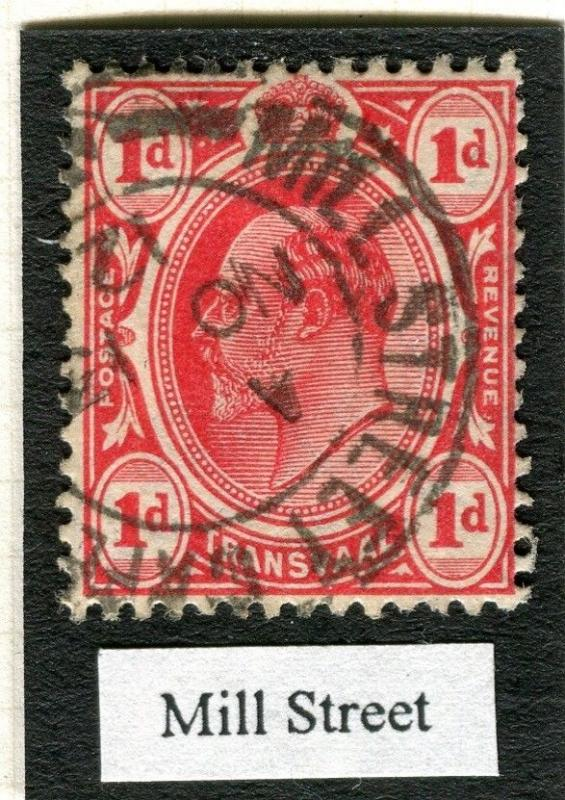 TRANSVAAL Interprovincial Period Ed VII CAPE TOWN Postmark on Mill Street