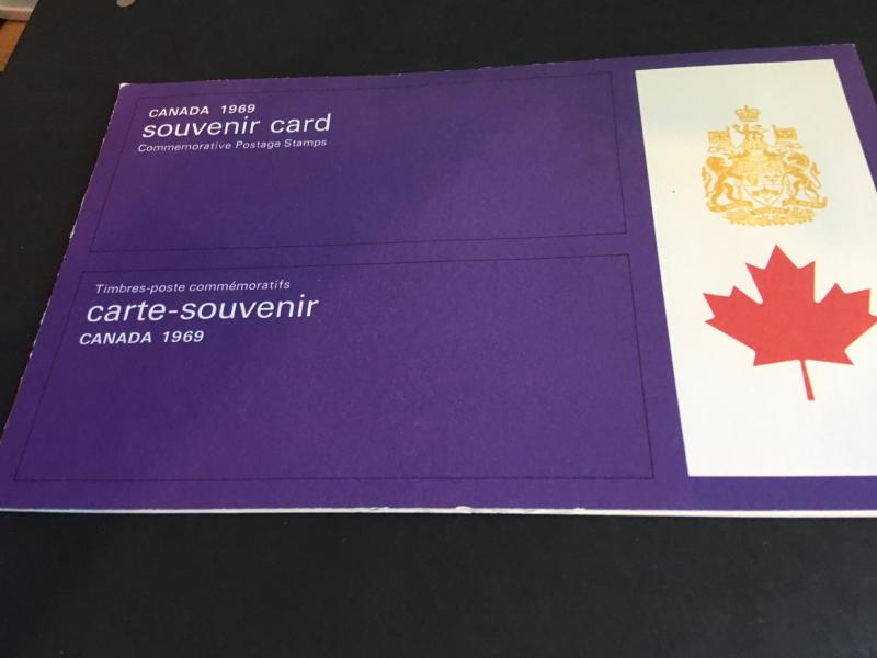 Canada 1969 Souv. Card USC #SC11 Mint Cat. $10. Canadian History in Post Stamps