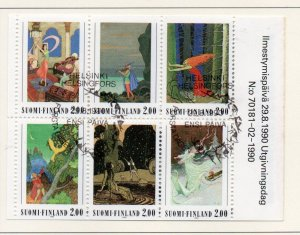 Finland Sc  825a 1990 Fairy Tales stamp booklet pane used